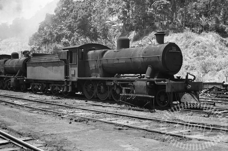 CGR Ceylon Government Railways Steam Locomotive Class B1A 255  at Nawalapitya in 1976 - Tommy Farr