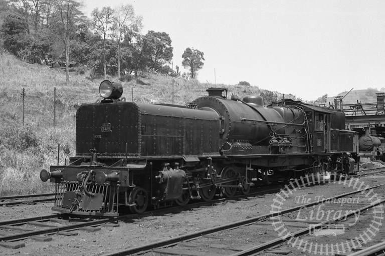 CGR Ceylon Government Railways Steam Locomotive Class CIA 345  at Nawalapitya in 1976 - Tommy Farr