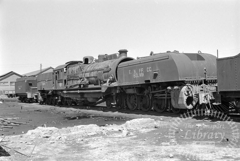 Bolvia Railways Empressa Ferrocarril Nacional de Bolivia Steam Locomotive Class 4-8-2 + 2-8-4 904  at Uyuni Works in 1974 - Tommy Farr