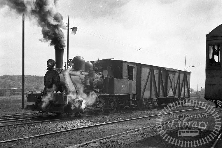 FCE Chile Railways Steam Locomotive Class 54 462  at Osorno in 1974 - Tommy Farr