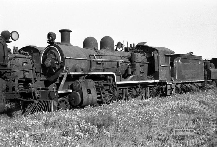 FCE Chile Railways Steam Locomotive Class 52 449  at San Bernardo in 1974 - Tommy Farr