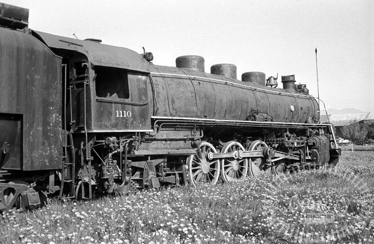 FCE Chile Railways Steam Locomotive Class 110 1110  at San Bernardo in 1974 - Tommy Farr