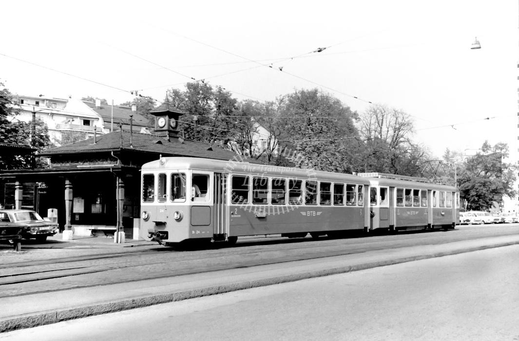 Birsigthalbahn Electric Railcar 24  at Basle in 1966 - 10/09/1966 - D Trevor Rowe