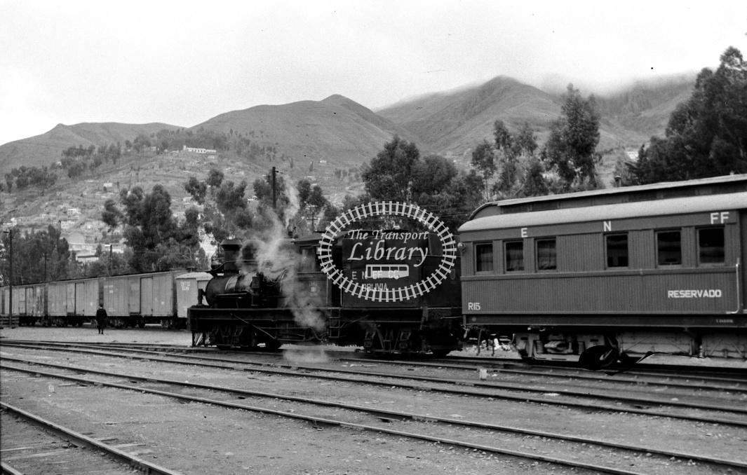 Bolivia Railways Empressa Ferrocarril Nacional de Bolivia Steam Locomotive 508  at La Paz in 1970 - 26/01/1970 - D Trevor Rowe