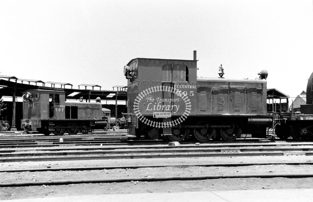Peru FC Central Diesel Locomotive 505  at Callao in 1970 - 22/01/1970 - D Trevor Rowe