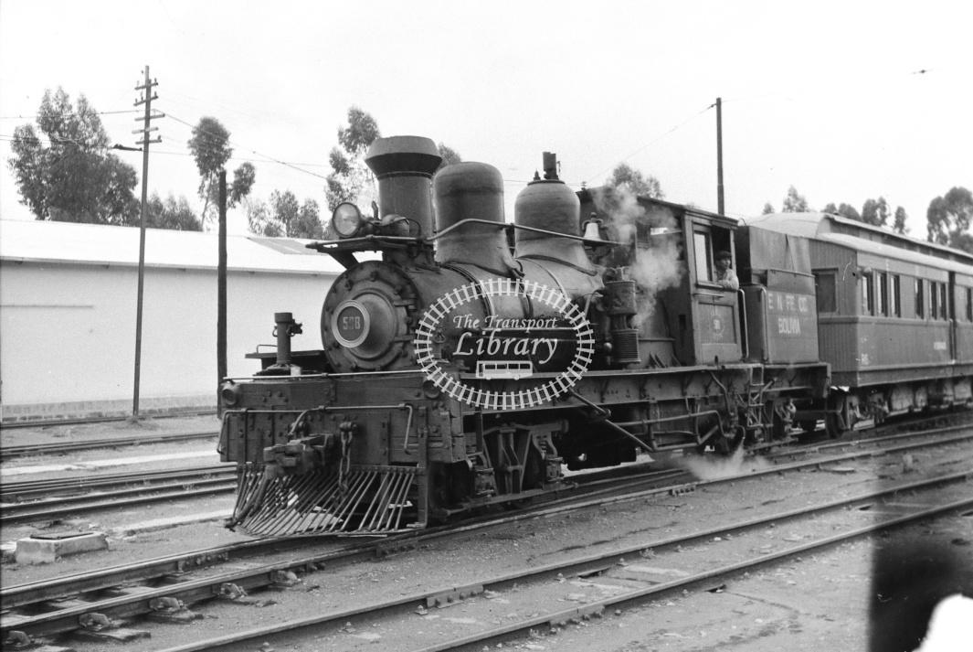 Bolivia Railways Empressa Ferrocarril Nacional de Bolivia Steam Locomotive 508  at La Paz in 1970 - 23/01/1970 - D Trevor Rowe