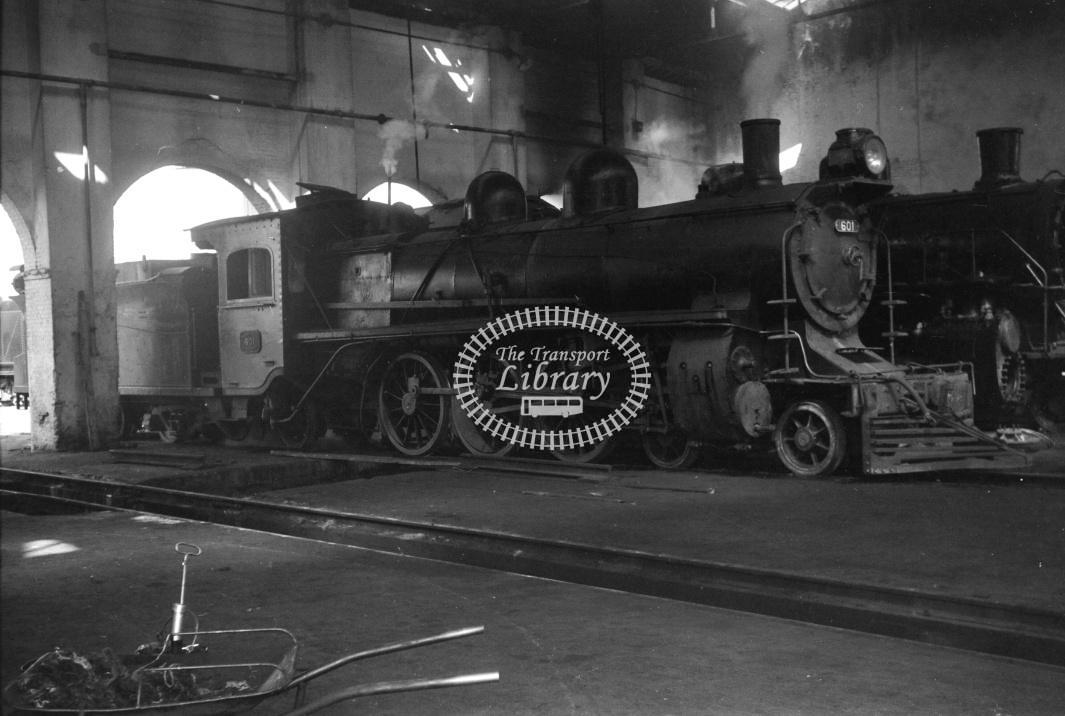 Ferrocarriles Argentinos Steam Locomotive 601  at Santa Fe in 1971 - 27/04/1971 - D Trevor Rowe