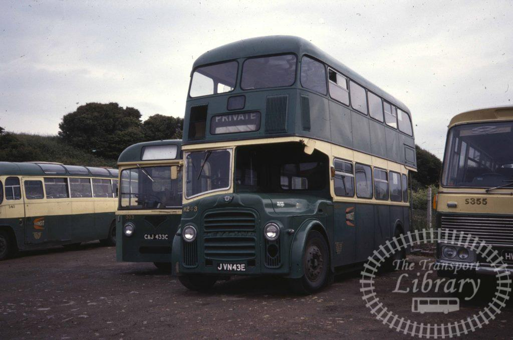 Cleveland Transit Leyland PD2A/27 H243 JVN43E in 1978 on route Unknown - Ron Wellings