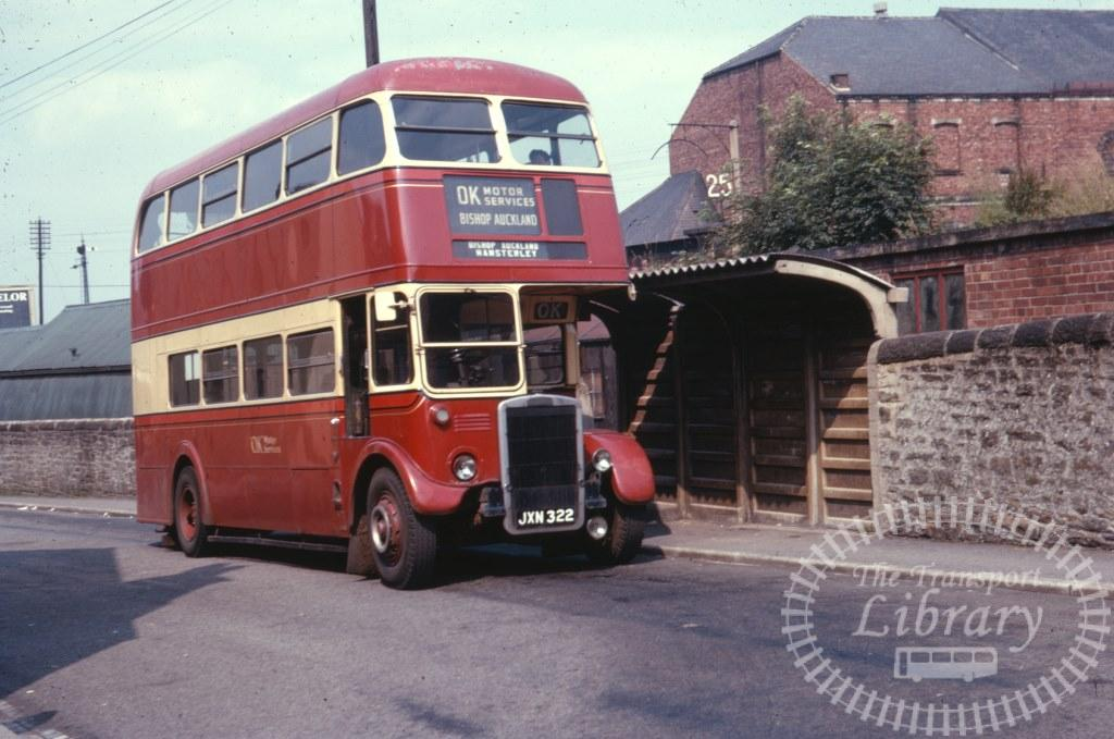 OK Motor Services AEC Regent JXN322 in 1963 on route Unknown - 27/07/1963 - Ron Wellings