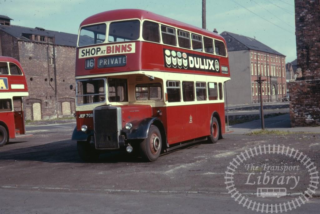 West Hartlepool Leyland Titan PD2/40 8 JEF708 in 1963 on route 16 - 26/07/1963 - Ron Wellings