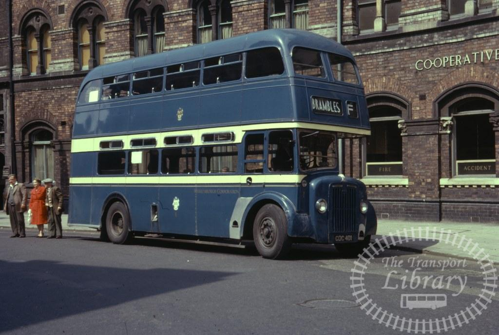 Middlesborough Corporation Guy Arav IV 1 CDC401 in 1963 on route F - 26/07/1963 - Ron Wellings