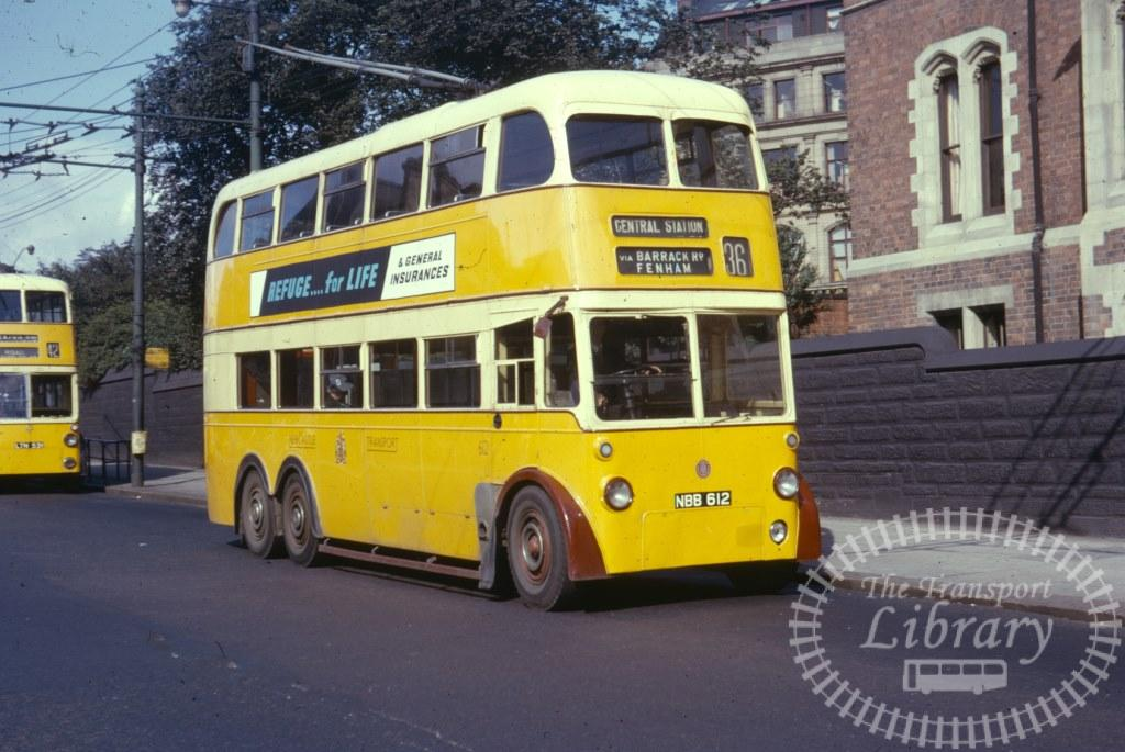 Newcastle Transport Trolleybus 612 NBB612 in 1963 on route 36 - 25/07/1963 - Ron Wellings