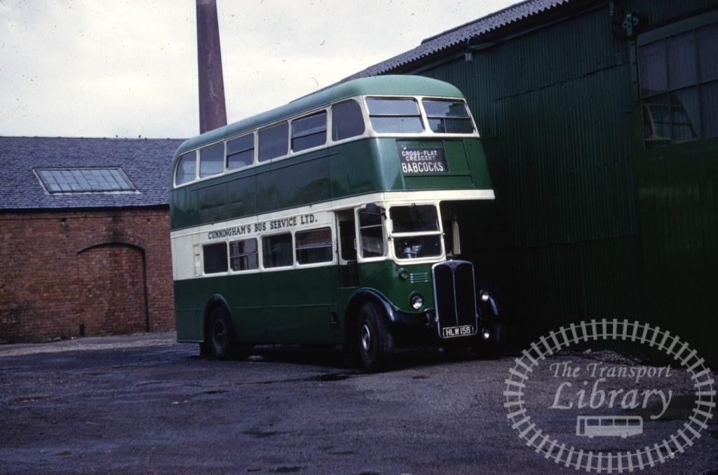 Cunningham's Bus Service Ltd AEC Regent III HLW156 in 1962 on route Unknown - 04/09/1962 - Ron Wellings