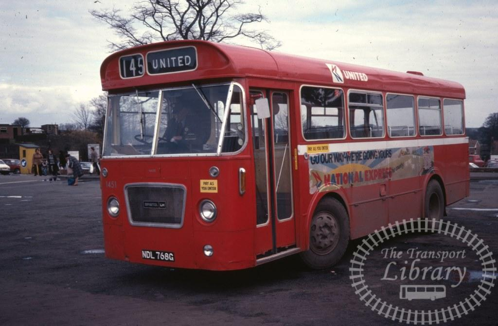 United Bristol LH 1451 NDL768G in 1979 on route 145 - Ron Wellings