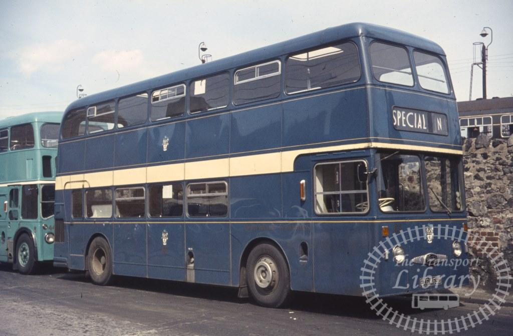 Middlesbrough Corporation Daimler Fleetline 65 EXG465D in 1966 on route N - Ron Wellings