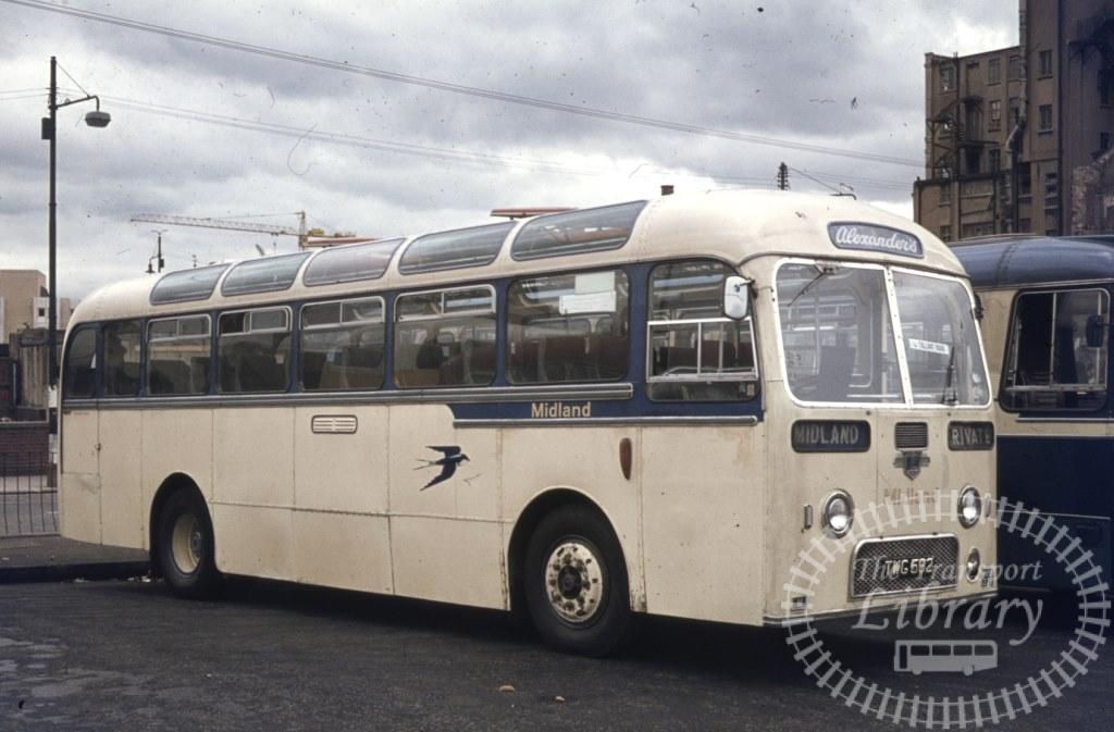 Alexander Midland Leyland Leopard TWG582 at Parliamentary Rd, Glasgow opposite Dundas St Bus Stn in 1966  - Ron Wellings