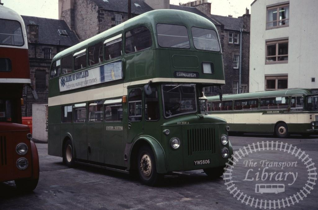 Eastern Scottish Leyland Titan PD2A/30 HH304A YWS606 in 1978 on route Unknown - Ron Wellings
