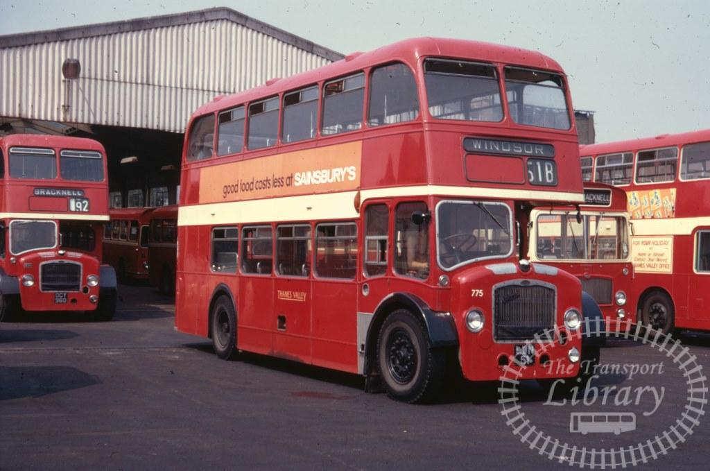 Thames Valley Bristol Lodekka 775 LWN51 in 1971 on route Unknown - 15/07/1971 - Ron Wellings