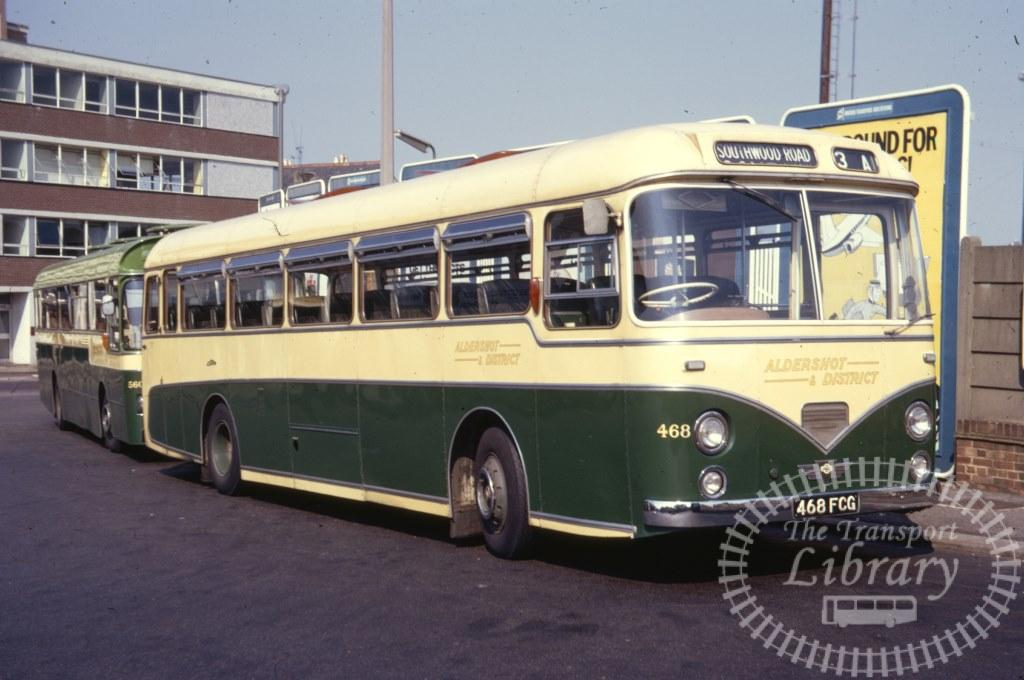 Aldershot and District AEC Reliance 468 468FCG in 1971 on route 3A - 07/07/1971 - Ron Wellings