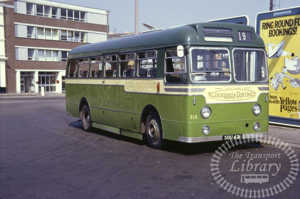 Aldershot and District AEC Reliance 313 SOU421 in 1971 on route 19 - 07/07/1971 - Ron Wellings