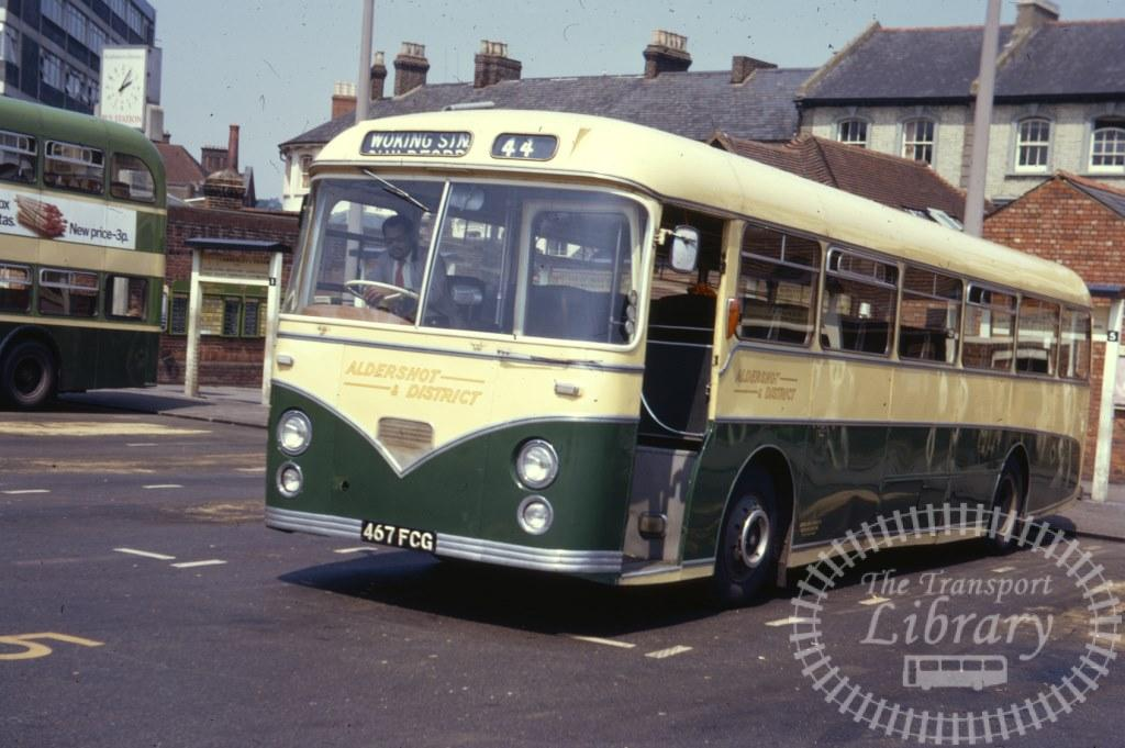 Aldershot and District AEC Reliance 467FCG in 1971 on route 44 - 07/07/1971 - Ron Wellings