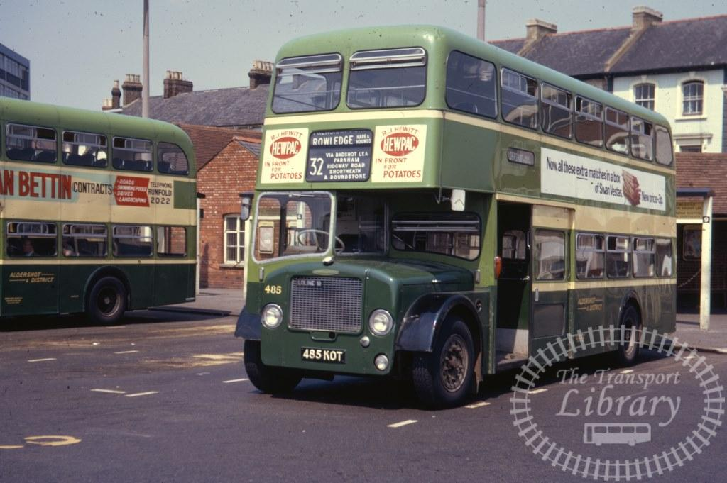 Aldershot and District Dennis Loline 485 485KOT in 1971 on route 32 - 07/07/1971 - Ron Wellings