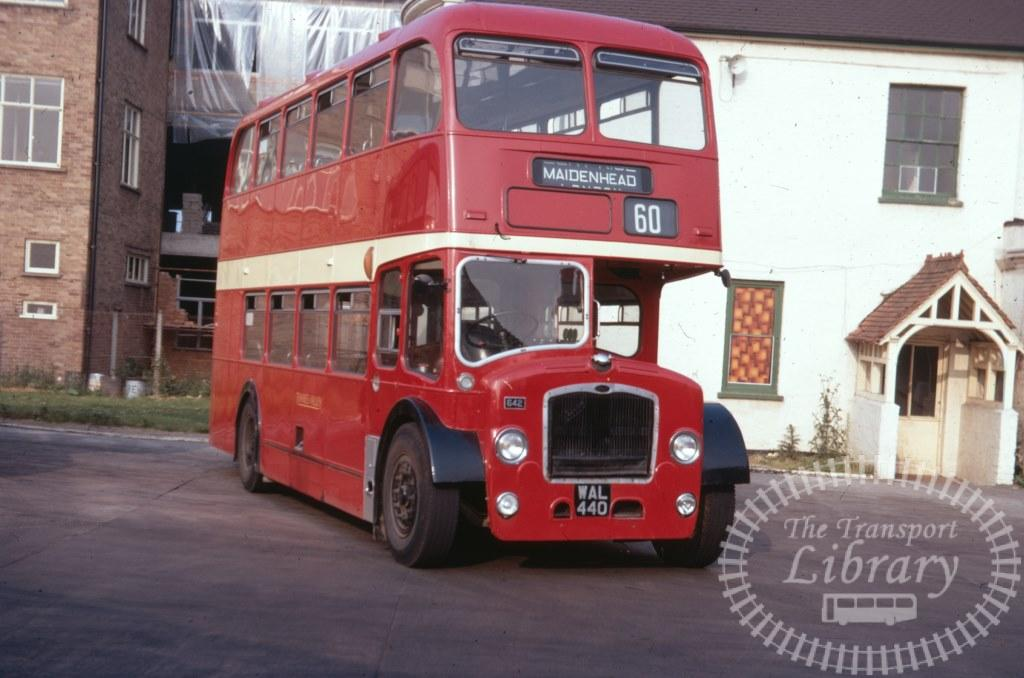 Thames Valley Bristol Lodekka 642 WAL440 in 1971 on route 60 - 03/07/1971 - Ron Wellings