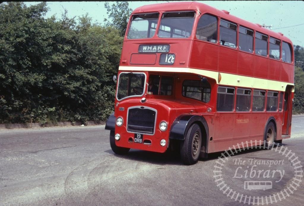 Thames Valley Bristol Lodekka 640 19DRB in 1971 on route 128 - 03/07/1971 - Ron Wellings