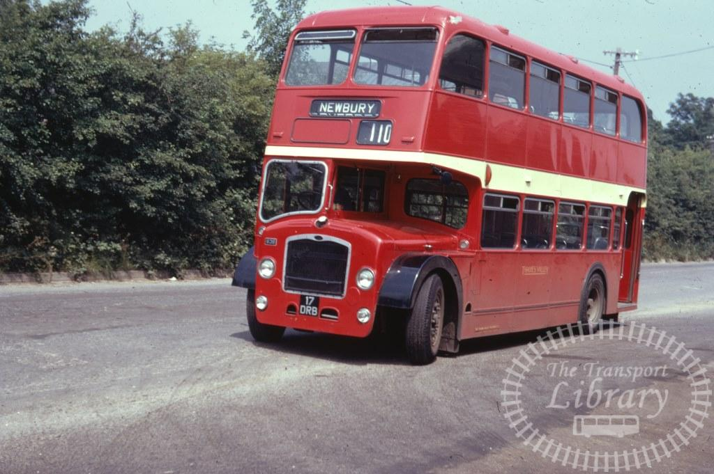 Thames Valley Bristol Lodekka 638 17DRB in 1971 on route 110 - 03/07/1971 - Ron Wellings