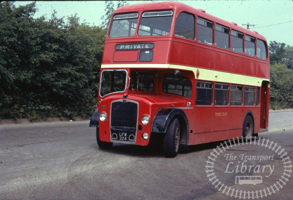 Thames Valley Bristol Lodekka 616 LFW324 in 1971 on route Unknown - 03/07/1971 - Ron Wellings