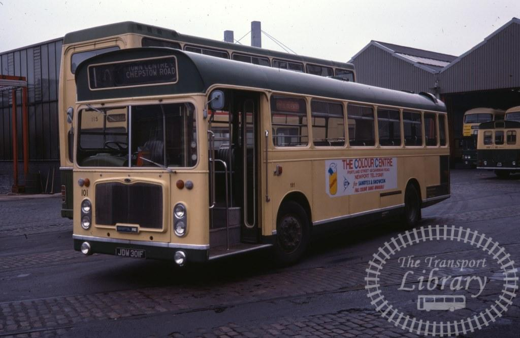 Newport Transport Bristol RE 101 JDW301F in 1978 on route Unknown - 06/05/1978 - Ron Wellings