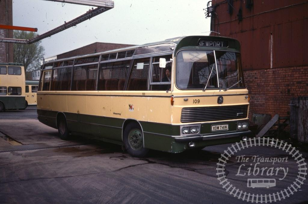 Newport Transport Bedford YRQ 109 XDW741K in 1978 on route Unknown - 06/05/1978 - Ron Wellings
