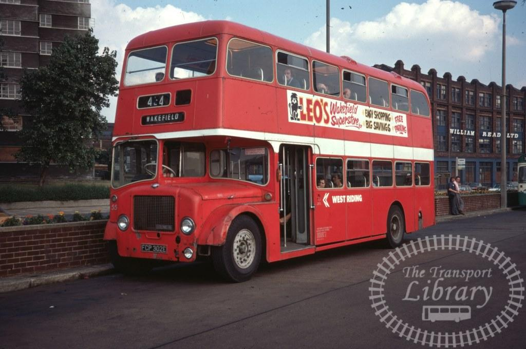 West Riding Bristol Lodekka 55 FCP302E in 1977 on route Unknown - 11/08/1977 - Ron Wellings