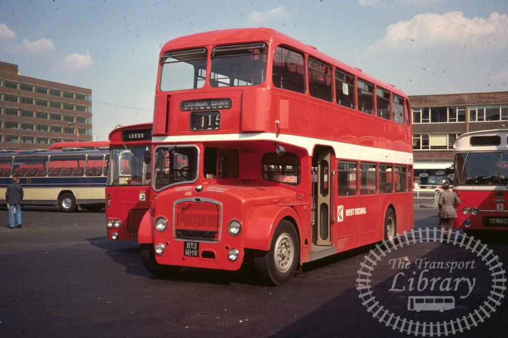 West Riding Bristol Lodekka 488 813MHW in 1977 on route 115 - 11/08/1977 - Ron Wellings