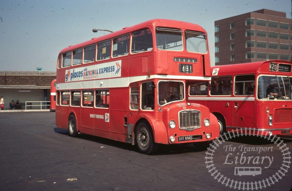 West Riding Bristol Lodekka 536 EHT851C in 1977 on route Unknown - 11/08/1977 - Ron Wellings