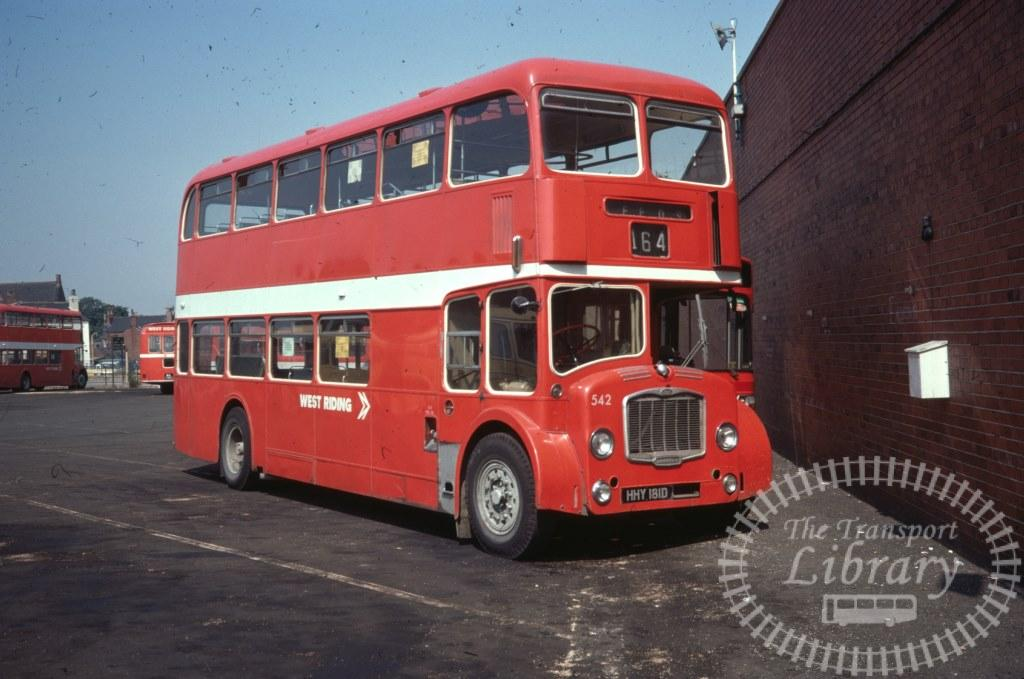 West Riding Bristol Lodekka 542 HHY181D in 1977 on route 164 - 11/08/1977 - Ron Wellings