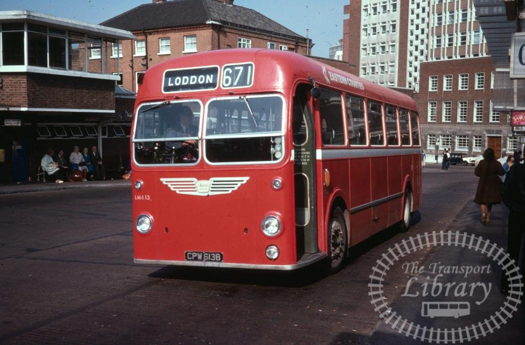 Eastern Counties Bristol MW LM613 CPW613B in 1977 on route 671 - 24/09/1977 - Ron Wellings