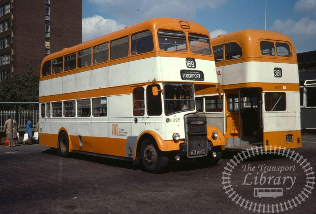 Greater Manchester Transport Leyland Titan PD3/14 5895 MJA895G in 1977 on route 189 - 08/08/1977 - Ron Wellings