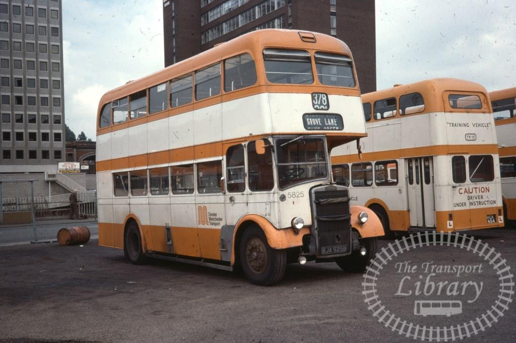 Greater Manchester Transport Leyland Titan PD2/37 5825 BJA925B in 1977 on route 378 - 08/08/1977 - Ron Wellings