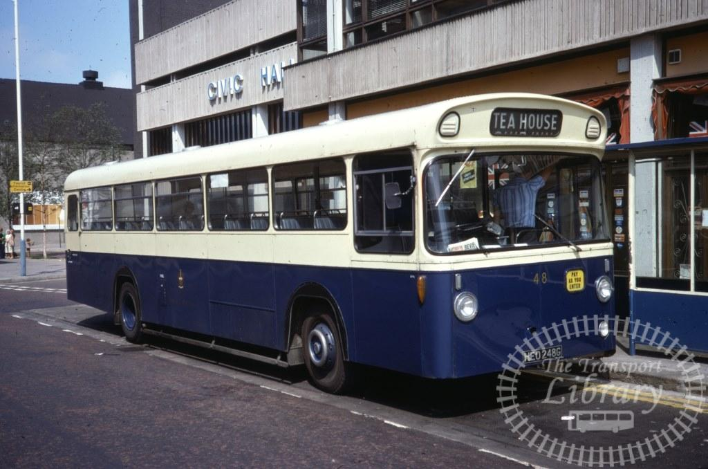 Barrow Leyland Leopard 48 HEO248G in 1977 on route Unknown - 31/07/1977 - Ron Wellings