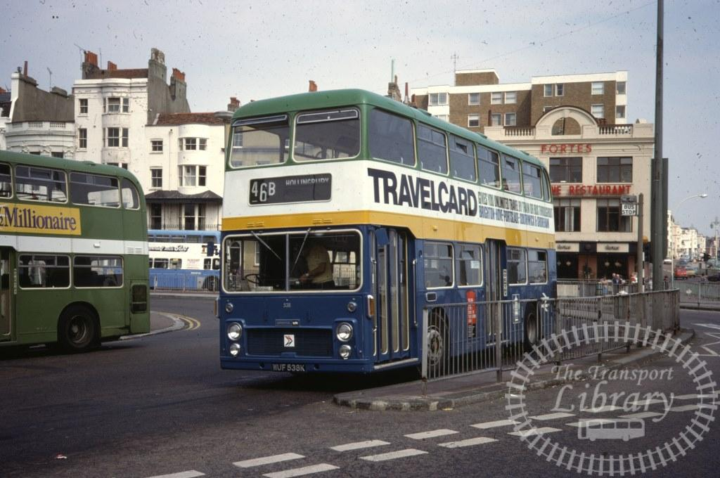 Southdown Bristol VR 538 WUF538K in 1977 on route 46B - 16/07/1977 - Ron Wellings
