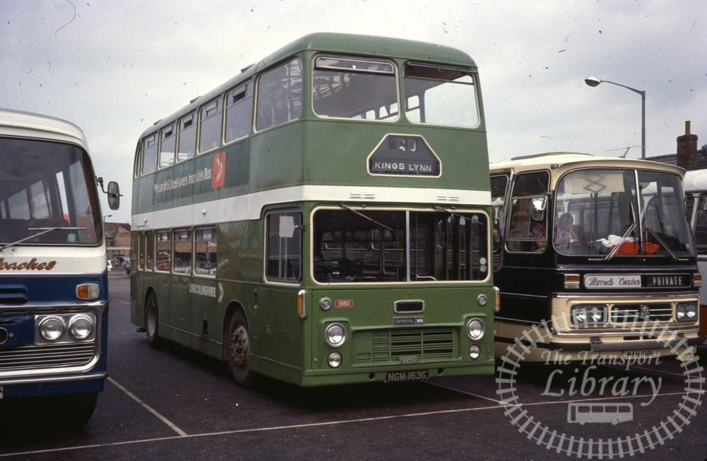 Lincolnshire Bristol VR 1980 NGM163G in 1977 on route 60 - 04/06/1977 - Ron Wellings
