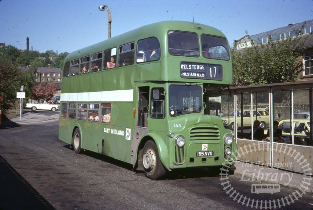 East Midland Albion Lowlander 165 165NVO in 1977 on route 17 - 28/05/1977 - Ron Wellings