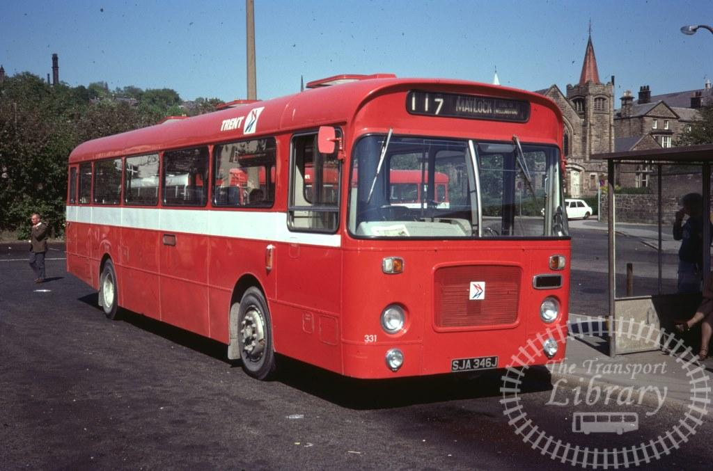 Trent Bristol RELL 331 SJA346J in 1977 on route 117 - 28/05/1977 - Ron Wellings