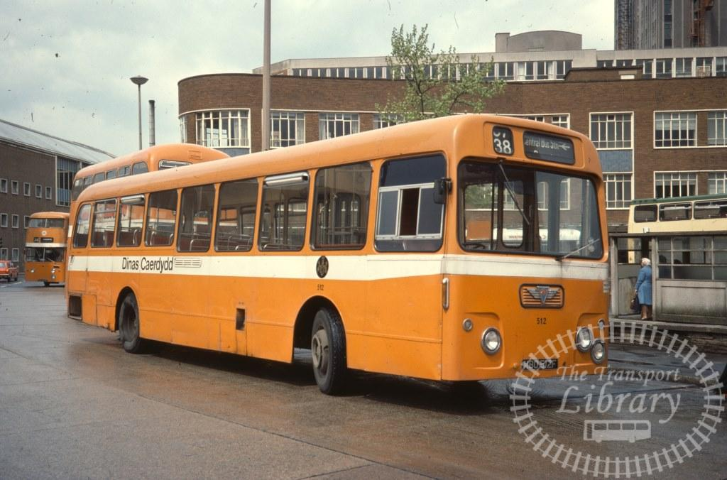 City of Cardiff Transport AEC Swift 512 MBO512F in 1977 on route 38 - 04/05/1977 - Ron Wellings