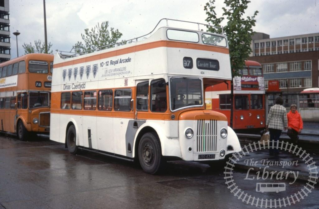 City of Cardiff Transport Guy Arab V 434 ABO434B in 1977 on route 97 - 04/05/1977 - Ron Wellings