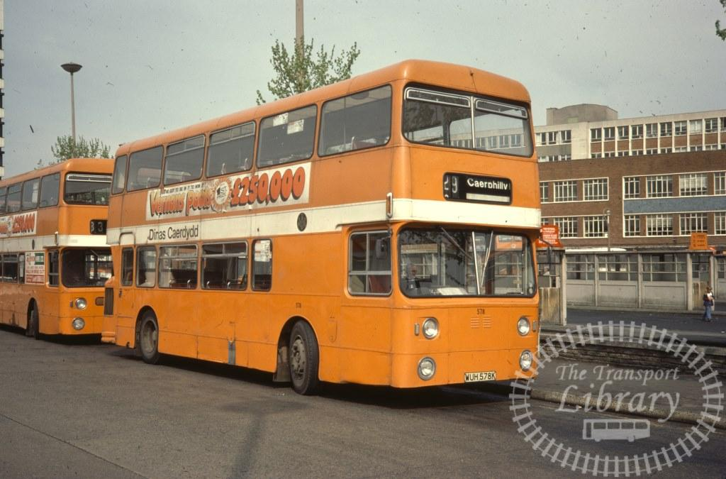 City of Cardiff Transport Daimler Fleetline 578 WUH578K in 1977 on route 29 - 04/05/1977 - Ron Wellings