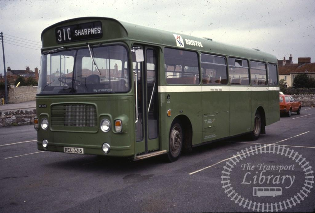 Bristol Bristol LH 420 REU331S in 1978 on route 310 - 16/09/1978 - Ron Wellings