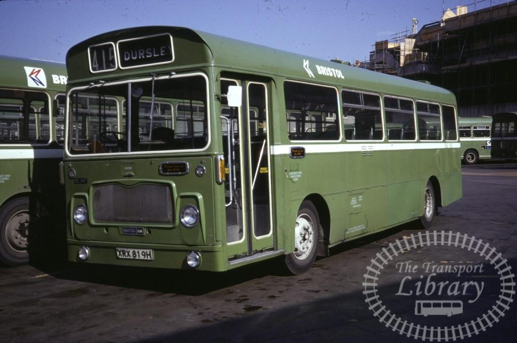 Bristol Bristol LH 347 XRX819H in 1978 on route 415 - 16/09/1978 - Ron Wellings