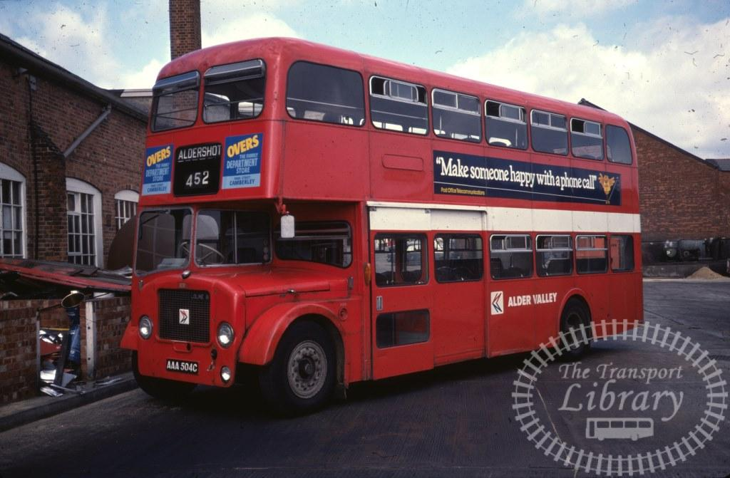 Alder Valley Dennis Loline 831 AAA504C in 1978 on route 452 - 24/09/1978 - Ron Wellings